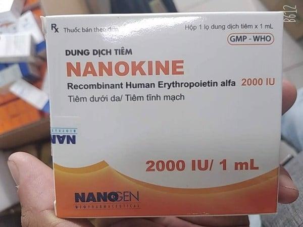 ThuốcNANOKINE 2000 IU và 4000 IU giá bao nhiêu Mua ở đâu