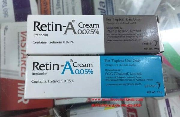 Thuốc Retin-A Cream 0.025 0.05 % giá bao nhiêu Mua ở đâu