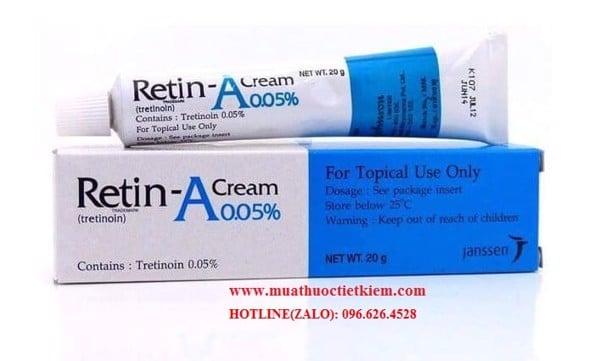 Thuốc Retin A Cream bao nhiêu tiền Thuốc bôi Tretinoin giá bao nhiêu
