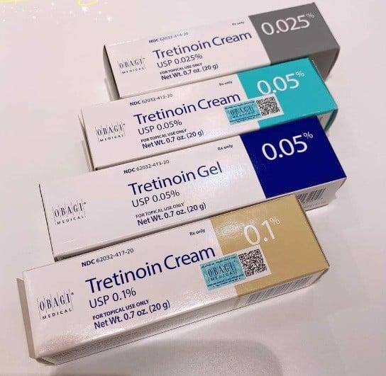 Thuốc Tretinoin OBAGI Cream 0.05 0.1 % giá bao nhiêu Mua ở đâu