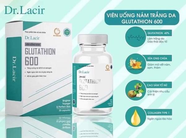 Viên uống trị nám white Glutathione 600 Dr.Lacir có tác dụng phụ không