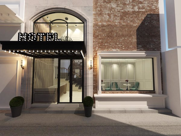 đá nhân tạo thiết kế nội thất khách sạn mini