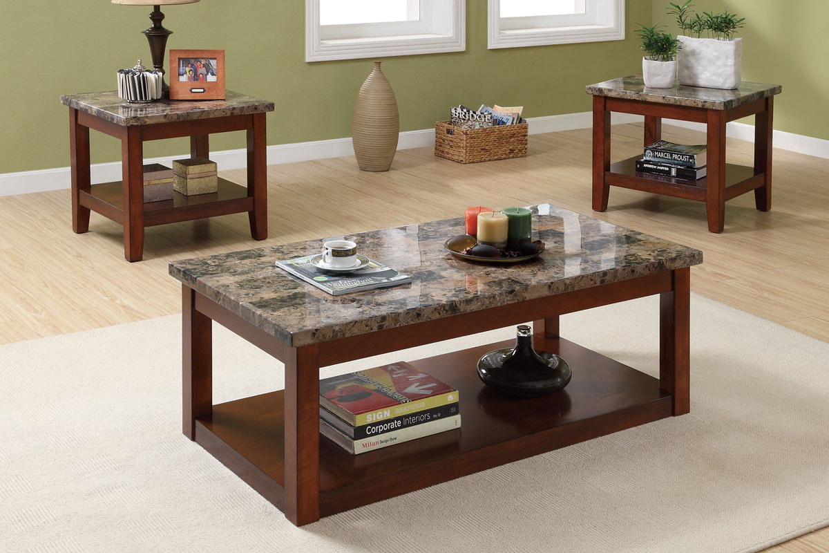 Bàn trà mặt đá cao cấp, bàn trà phòng khách ấn tượng