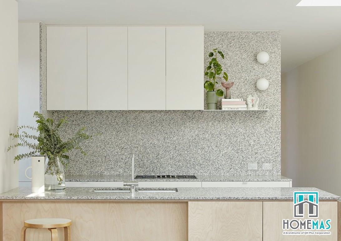 Đá granite ốp tường nhà bếp - homemas.com