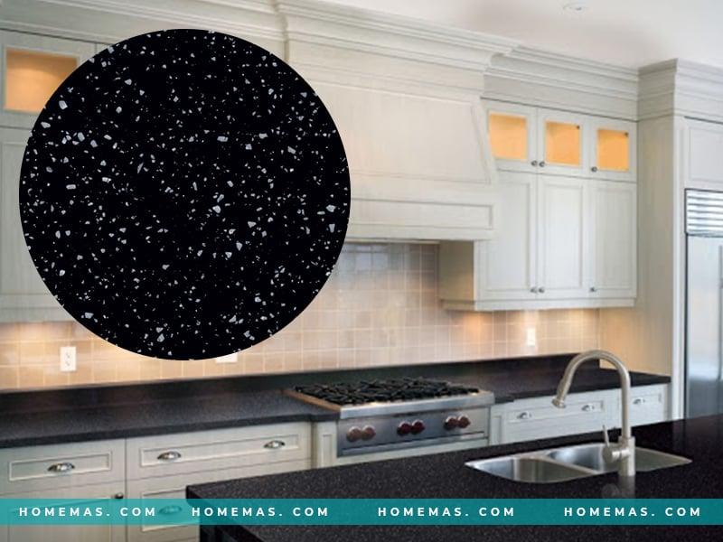 Đá ốp bếp màu đen - G053 Stardust Granite LG Hausys