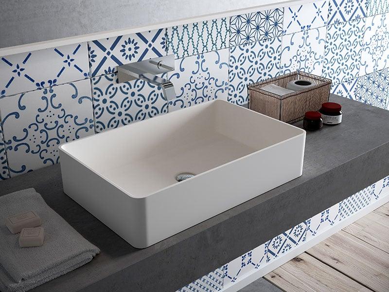 lavabo làm bằng đá nhân tạo HI-MACS LG Hausys