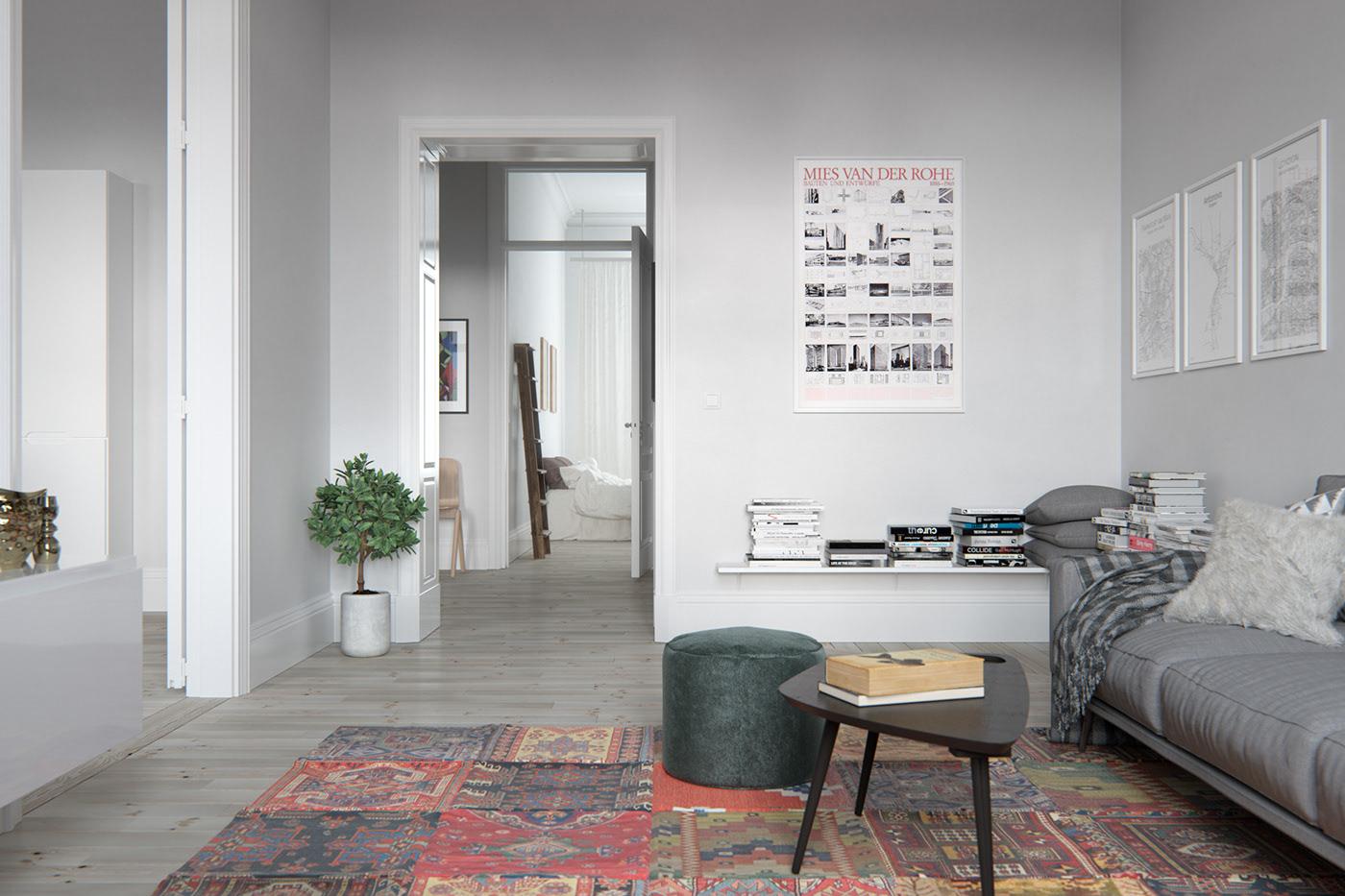 nội thất phong cách scandinavian