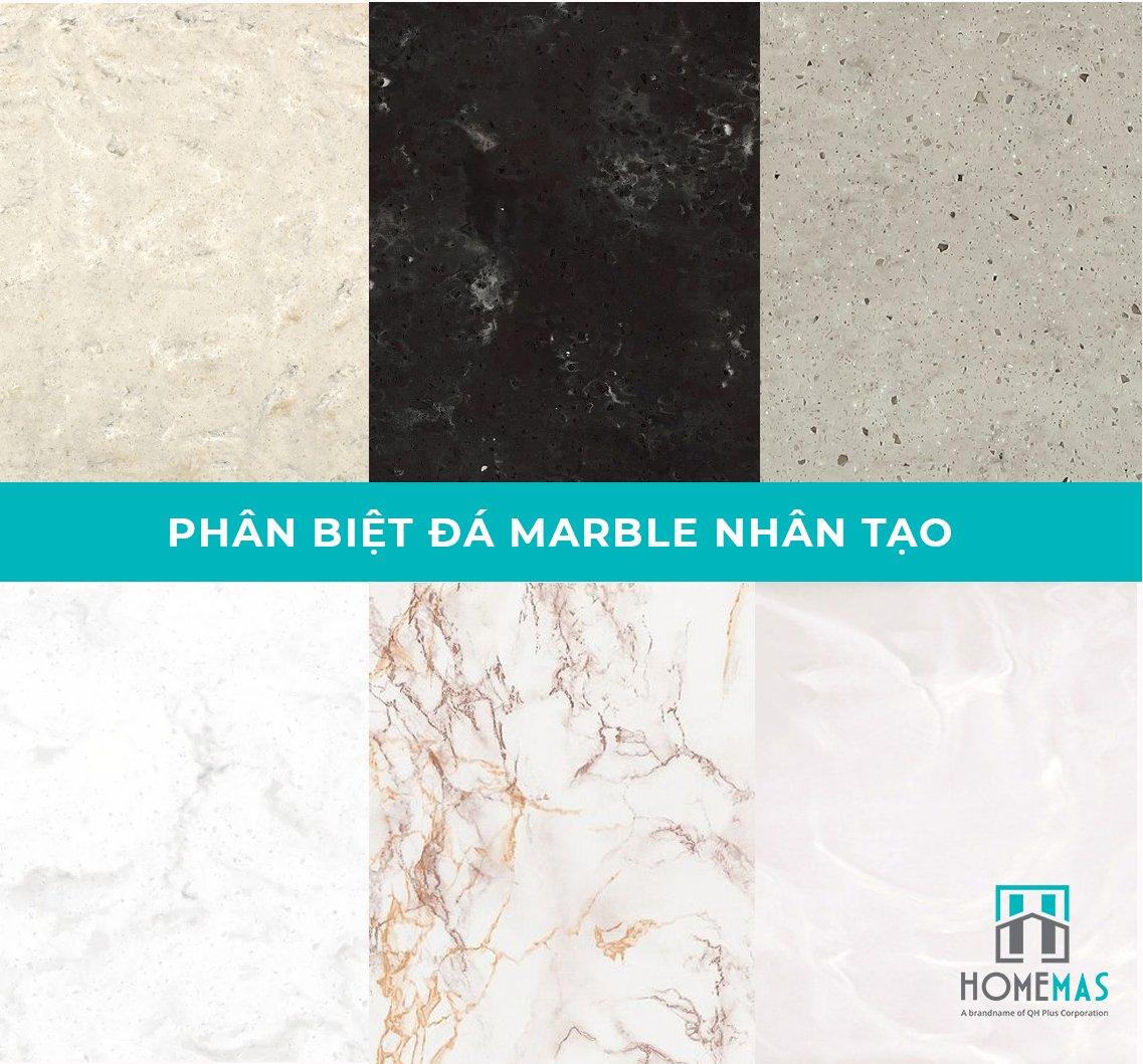 Đá marble nhân tạo là gì, cách phân biệt đá marble nhân tạo