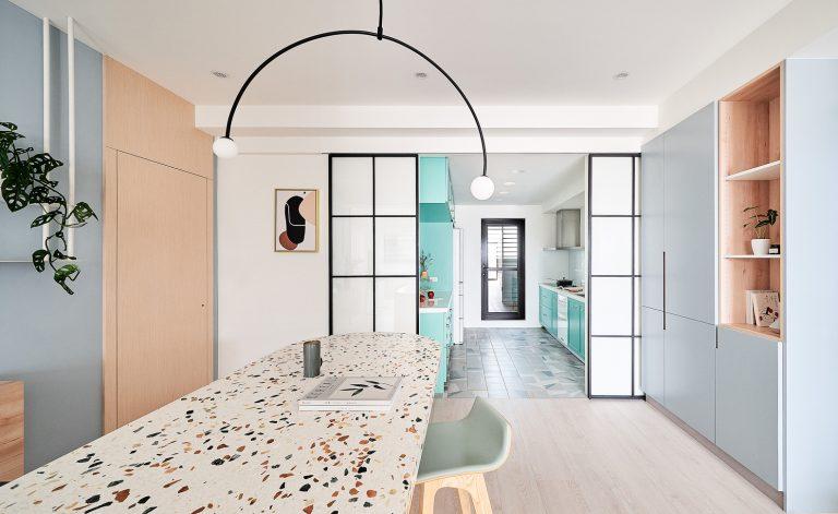trang trí chung cư màu pastel