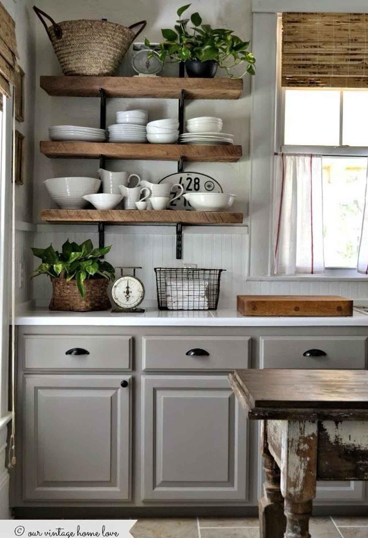 Nhà bếp phong cách vintage độc đáo