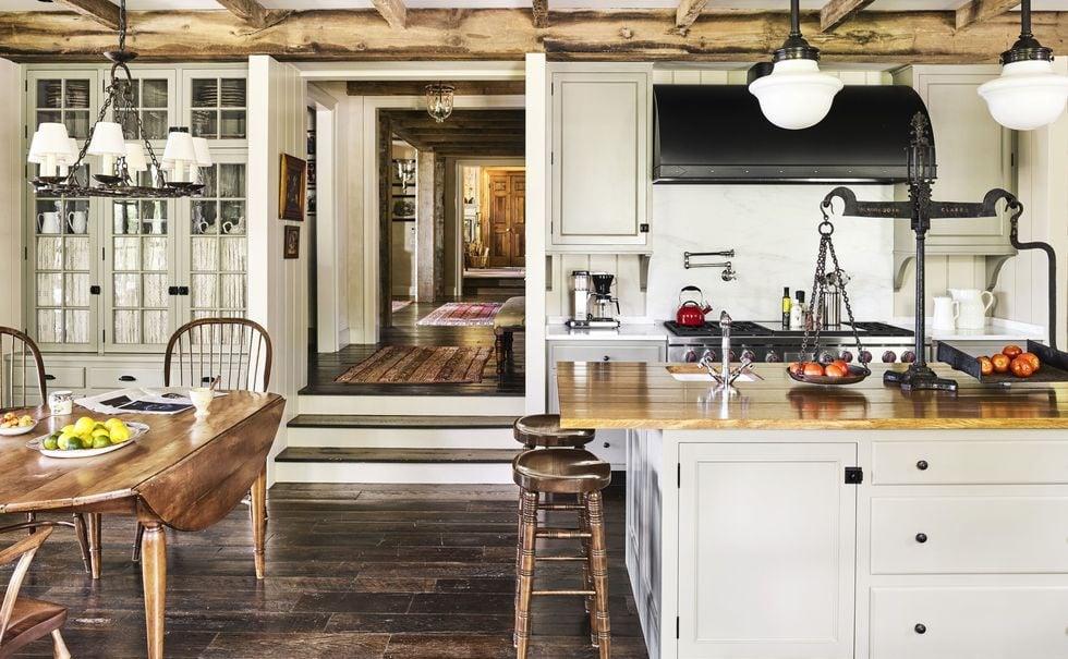Trang trí nhà bếp đơn giản theo phong cách Địa Rustic