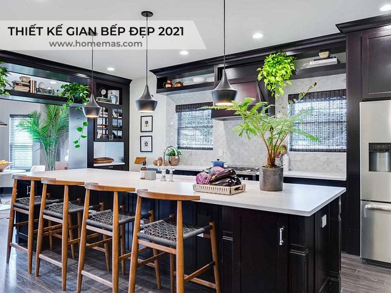 Xu huong thiet ke gian bep dep nam 2021