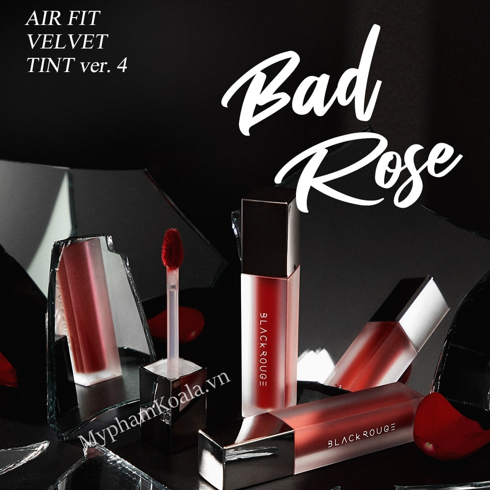 Son Kem Black Rouge Airfit Velvet ver 4 Bad Rose