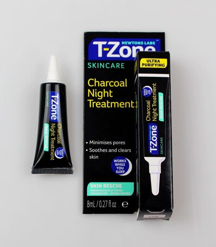 Gel chống thâm sau mụn, giảm mụn đêm se khít lỗ chân lông T-Zone Skincare Charcoal Night Treatment 8ml