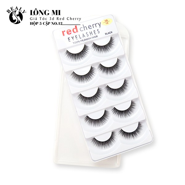 LONG MI GIA TOC 3D RED CHERRY HỘP 5 CẶP NO.12