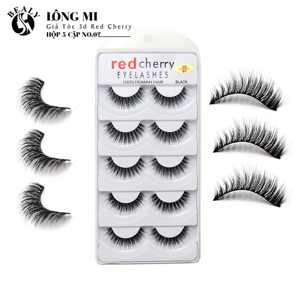 LONG MI GIA TOC 3D RED CHERRY HỘP 5 CẶP NO.07