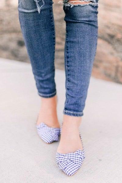 giày gingham