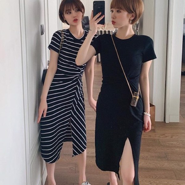váy thiết kế thun thường không quá cầu kỳ và đòi hỏi kết hợp phụ kiện đi kèm quá đặc biệt