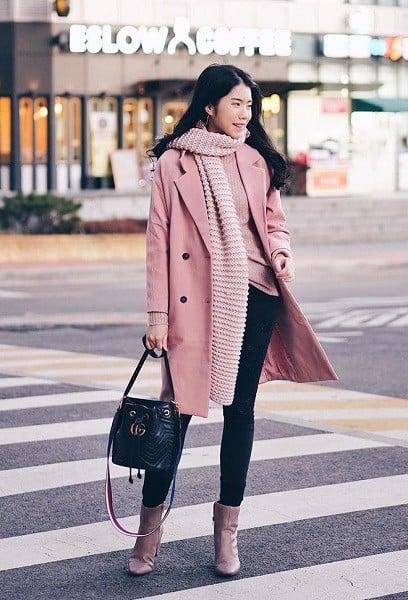 Học cách diện áo khoác dài sao cho đẹp chuẩn xu hướng mùa Đông