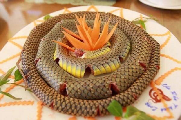 đặc sản rắn biển Cát Bà
