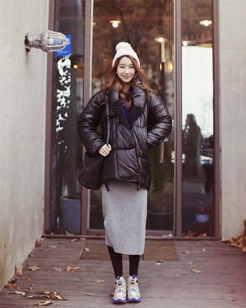 kết hợp áo phao cho ngày đông lạnh