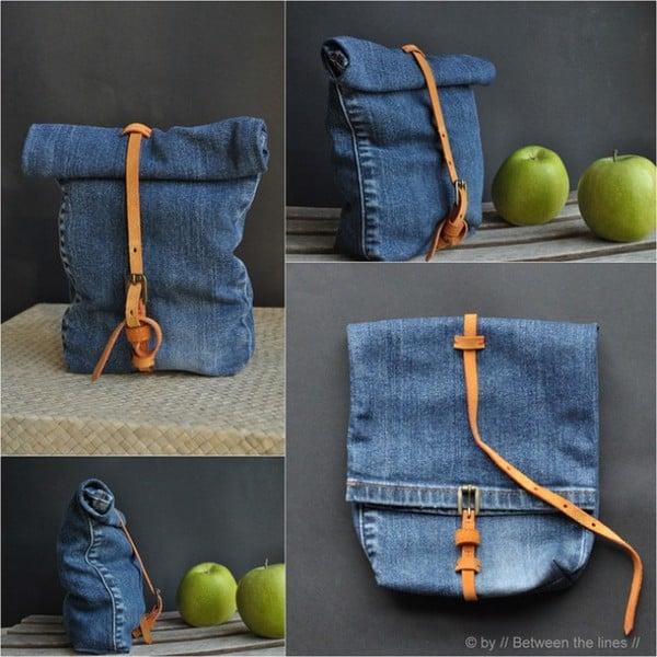 mẫu túi được làm từ quần jean cũ
