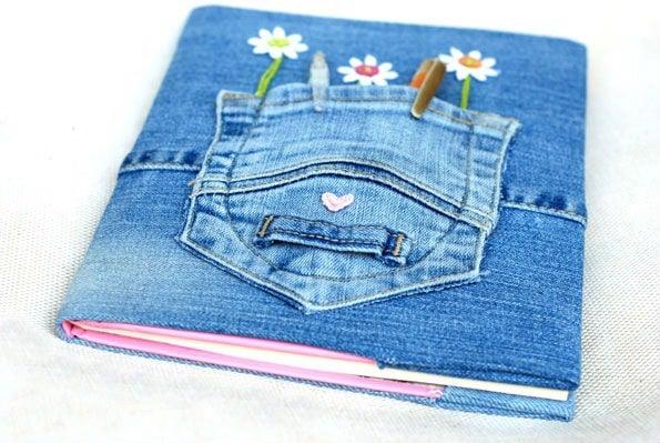balo tận dụng từ quần jean cũ