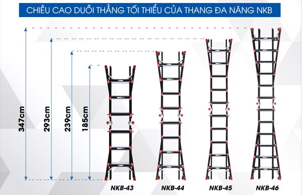 thang nhôm gấp đa năng nkb 44