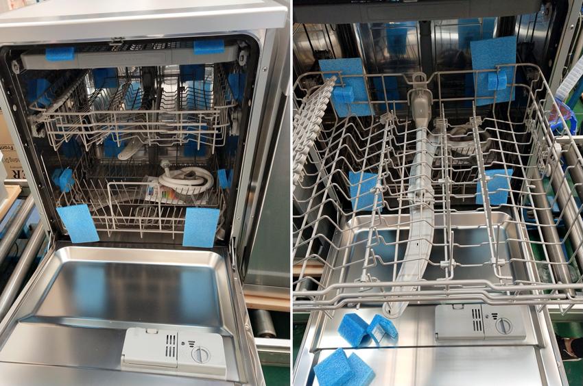 Bên trong máy rửa bát Kaff KF-S906TFT