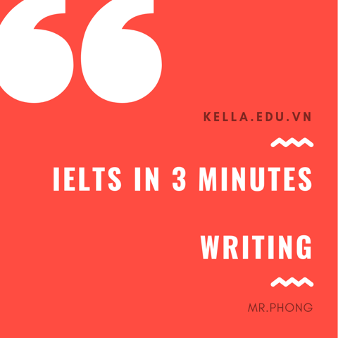 ✍ IELTS IN 3 MINUTES - NÂNG ĐIỂM WRITING ✍