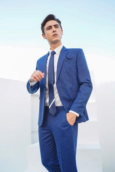 áo vest nam xanh