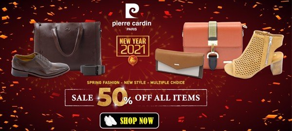 Pierre Cardin Paris Vietnam: NEW YEAR 2021 - SALES OFF 50% FOR ALL ITEMS