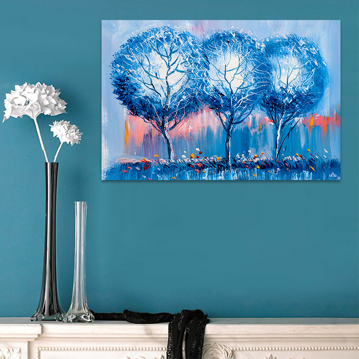 Tranh Canvas Blue Trees Alila