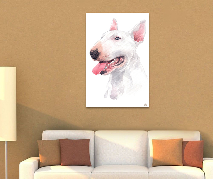 Tranh Canvas Bull Terrier Alila