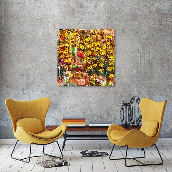 Tranh Canvas Hoa Vàng Alila