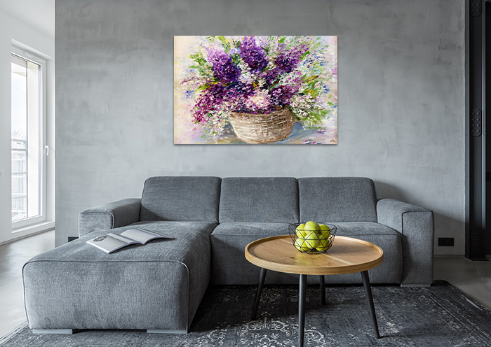Tranh Canvas Lọ Hoa Lavender Alila