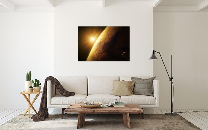 Tranh Canvas Mặt Trăng Và Mặt Trời Alila