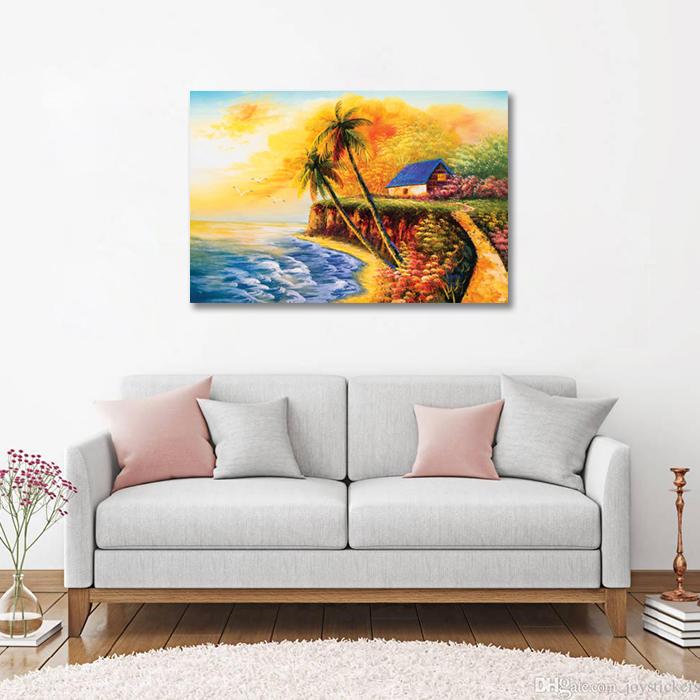 Tranh Canvas Ngôi Nhà Bên Bờ Biển Alila