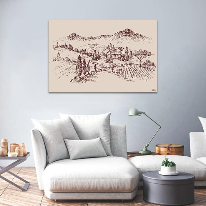 Tranh Canvas Ngôi Nhà Trên Đồi Alila