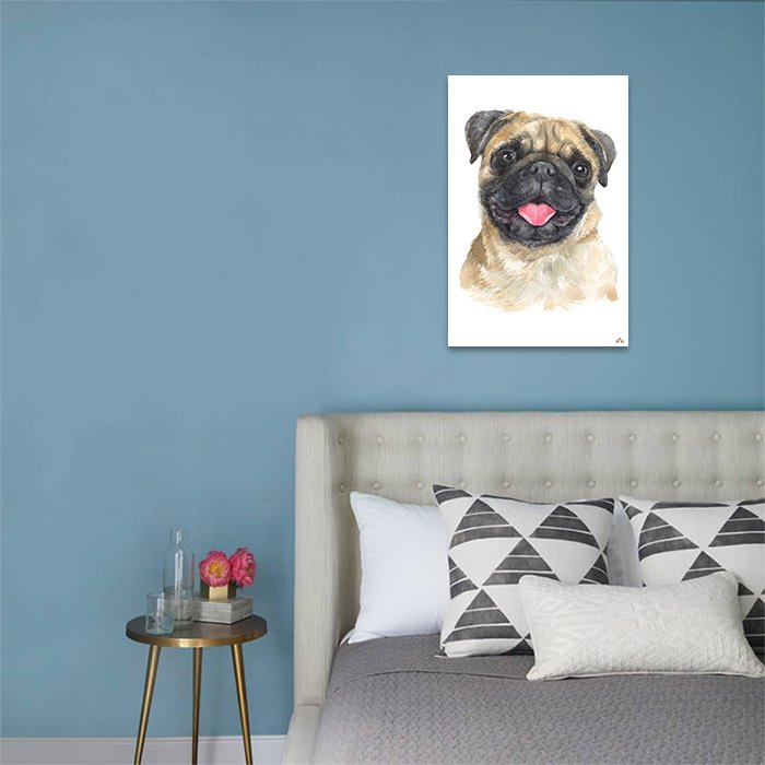 Tranh Canvas Pug Puppy Alila
