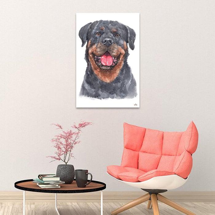 Tranh Canvas Rottweiler Dog Alila