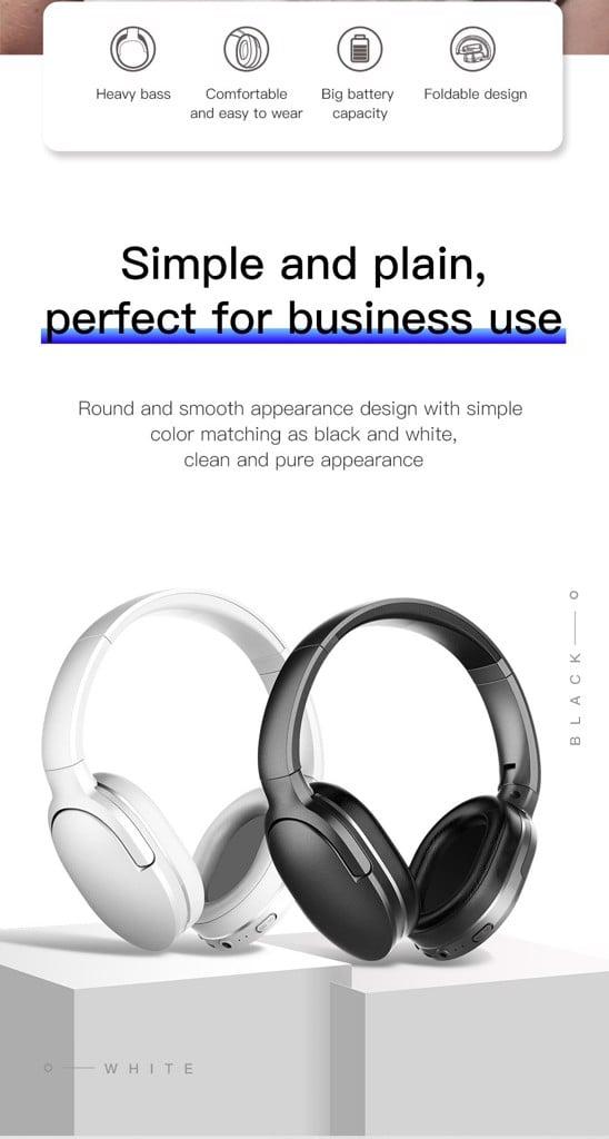 Tai nghe chụp tai không dây cao cấp Baseus Encok D02