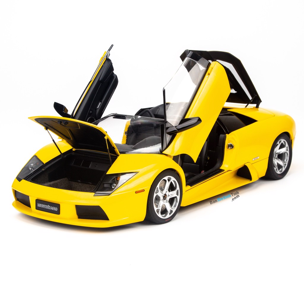 Mô hình siêu xe Lamborghini Murcielago Roadster Yellow 1:12 Autoart