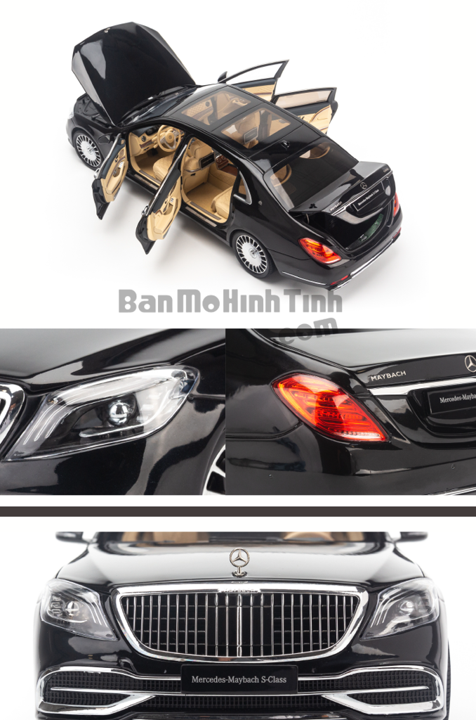 Mô hình xe sang Mercedes-Benz Maybach S650 2019 1:18 Almost Real Obsidian Black