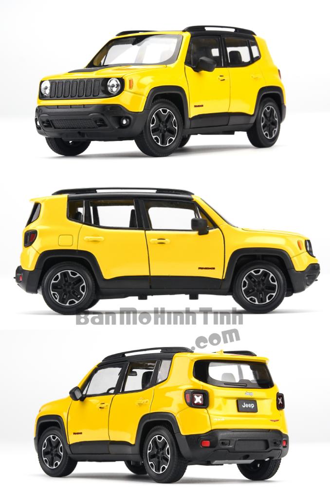 Mô hình xe Jeep Renegade Trailhawk 1:24 Welly Yellow