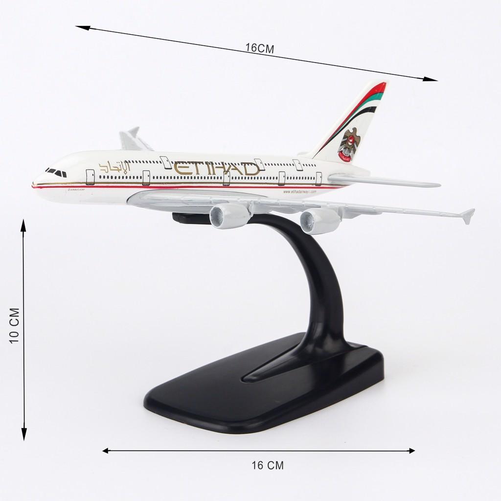 Mô hình máy bay Airbus A380 Etihad 16cm Everfly