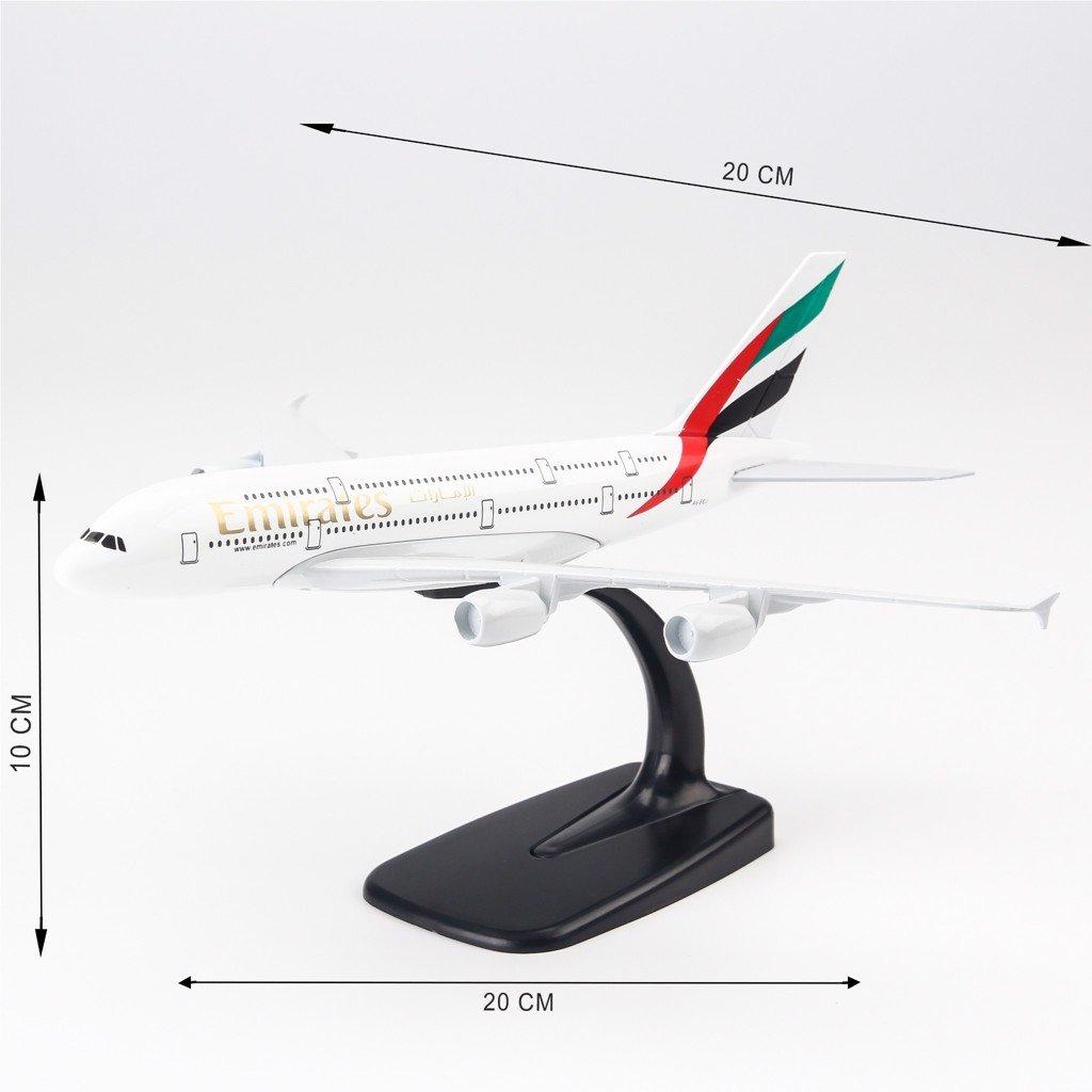 Mô hình máy bay Emirates Airbus A380 20cm Everfly