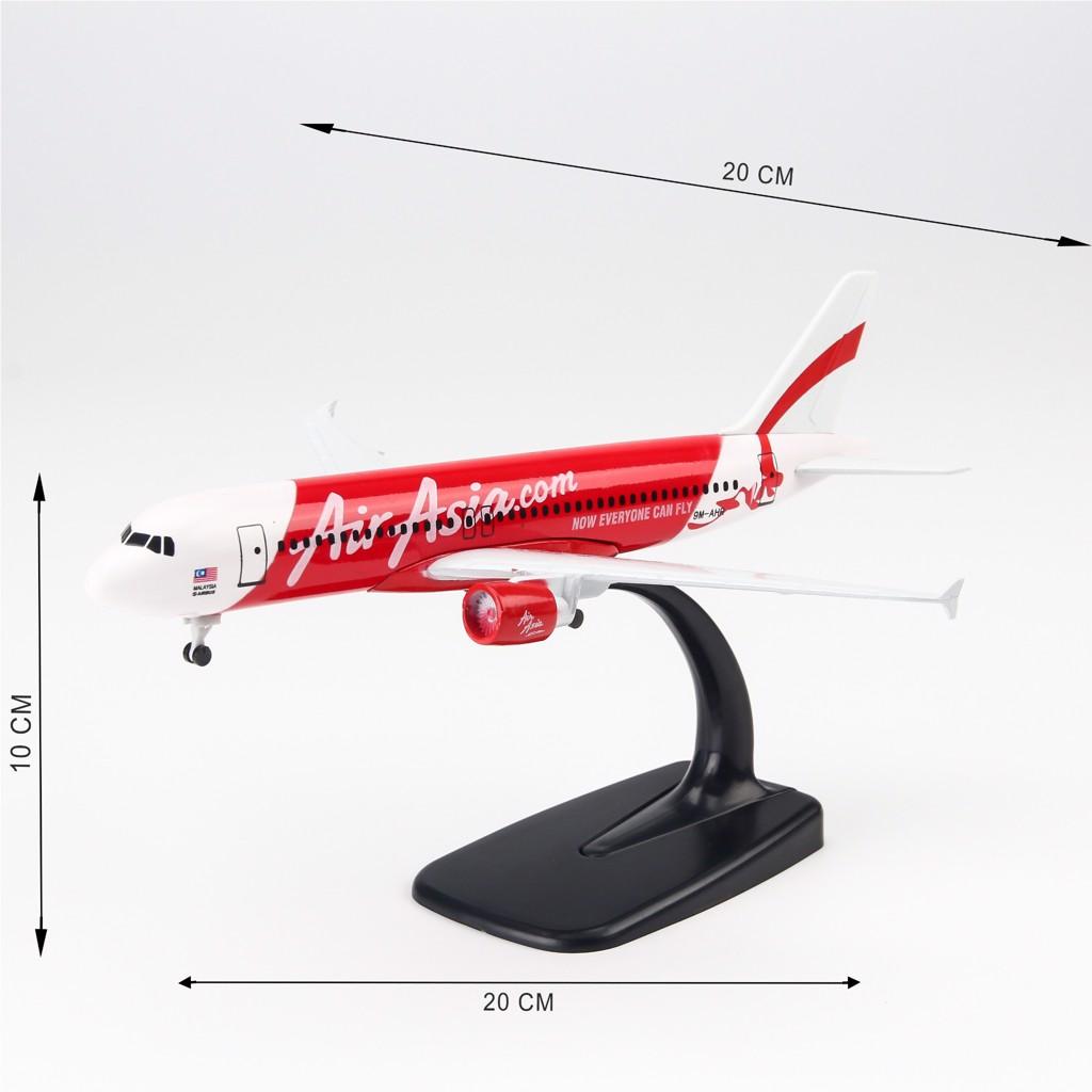Mô hình máy bay Air Asia Airbus A320 20cm Everfly