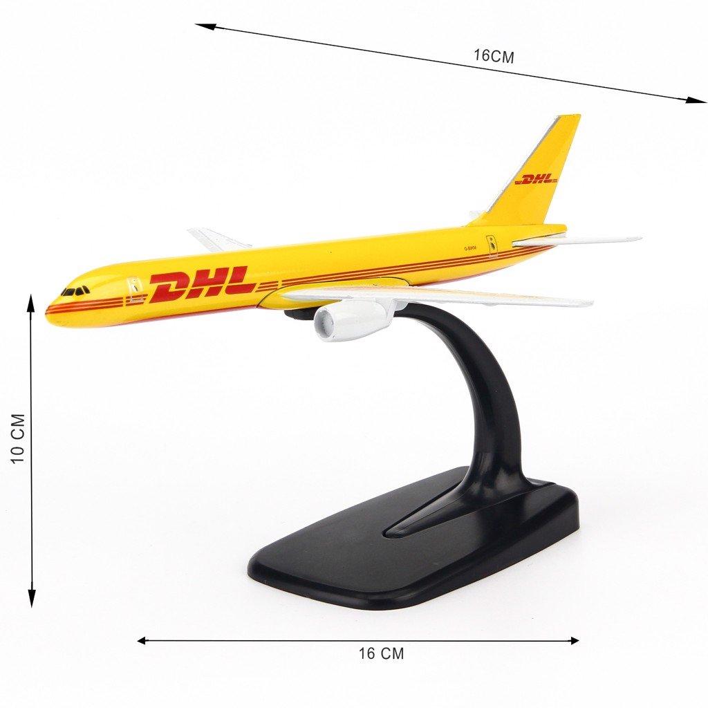 Mô hình máy bay DHL Boeing B777 16cm Everfly