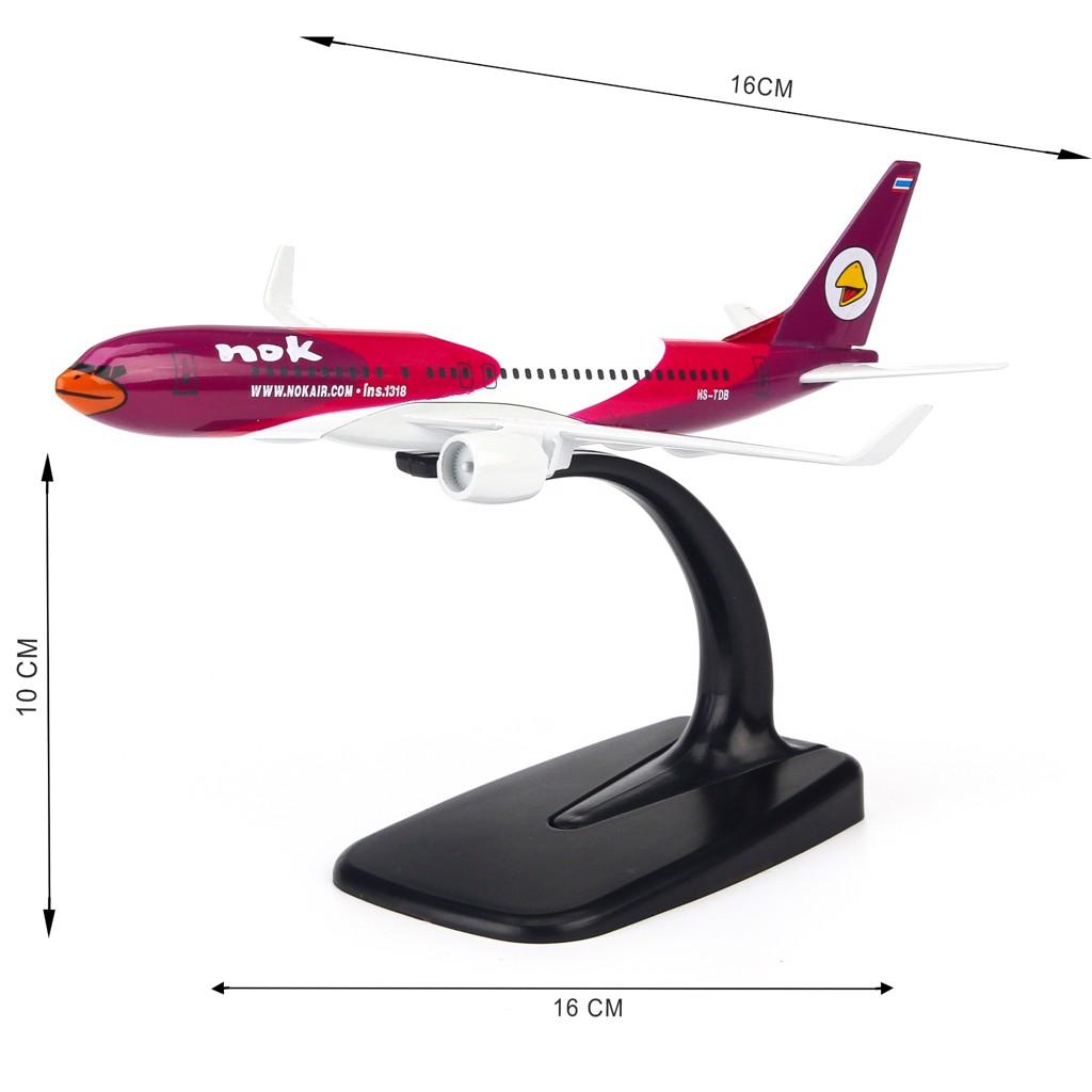 Mô hình máy bay Nok Air Ins 1318 Boeing B737 16cm Everfly